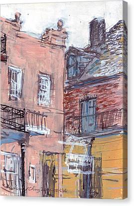 View From Cafe Du Monde Canvas Print