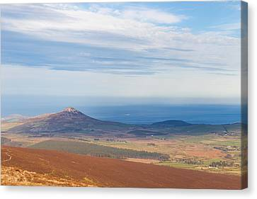 View From Djouce Mountain Towards Sugar Loaf Canvas Print