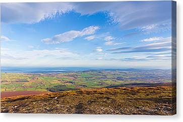 View From Djouce Towards The Irish Coast Line Canvas Print