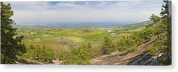 View From Dorr Mountain Over Great Meadow Acadia National Park Maine Canvas Print by Keith Webber Jr