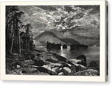 Thomas Moran Canvas Print - View From Fourteen-mile Island by American School