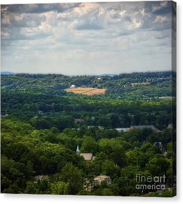 Canvas Print featuring the photograph View From Goat Hill by Debra Fedchin
