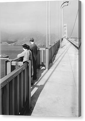 View From Golden Gate Bridge Canvas Print by Underwood Archives