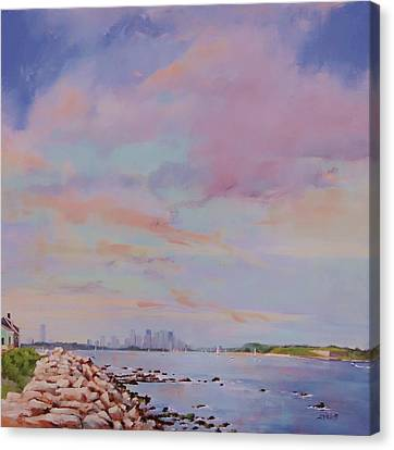 View From Hull Canvas Print by Laura Lee Zanghetti