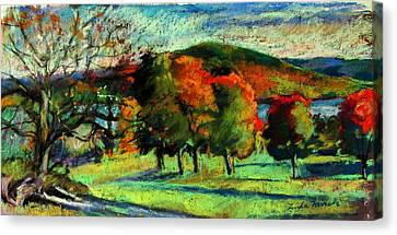 View From Kripalu Towards Lake Mahkeenac Canvas Print