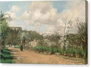 View From Louveciennes, 1869-70 Oil On Canvas Canvas Print