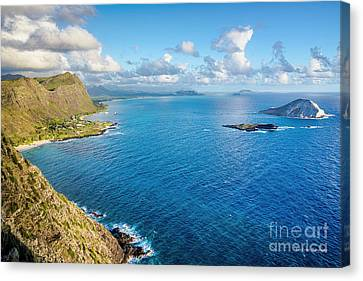 Canvas Print featuring the photograph View From Makapuu Point by Aloha Art