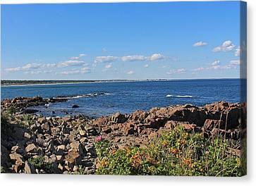 View From Marginal Way Ogunquit Maine 3 Canvas Print