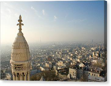 Canvas Print featuring the photograph View From Montmartre by Jon Emery