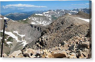 View From Mt Sherman Summit Canvas Print by Claudette Bujold-Poirier