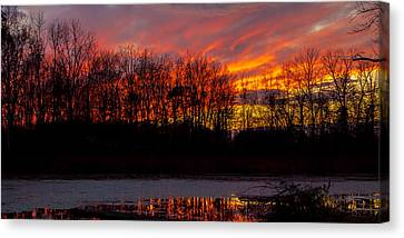 View From My Driveway Crop 2 Canvas Print by Michael J Samuels