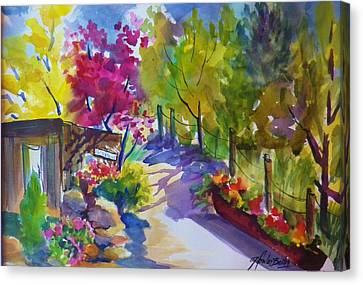 View From My Studio Door Canvas Print by Therese Fowler-Bailey