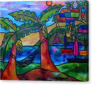 View From My Villa Canvas Print by Patti Schermerhorn
