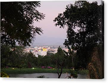View From Palaad Tawanron Restaurant - Chiang Mai Thailand - 01131 Canvas Print by DC Photographer