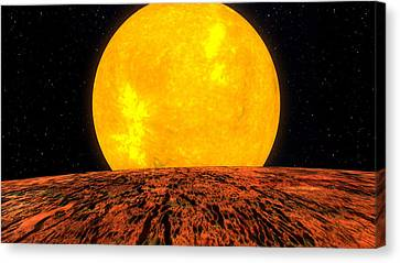 View From Planet Kepler 10b Canvas Print by Movie Poster Prints