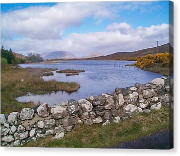 Canvas Print featuring the photograph View From Quiet Man Bridge Oughterard Ireland by Charles Kraus