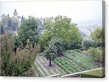 View From San Nicolas On A Rainy Day - Granada - Spain Canvas Print by Madeline Ellis
