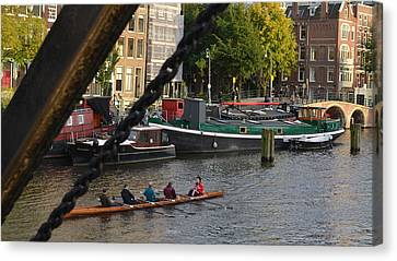 'skinny Bridge' Amsterdam Canvas Print by Cheryl Miller