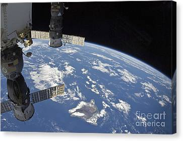 View From Space Showing Part Canvas Print by Stocktrek Images