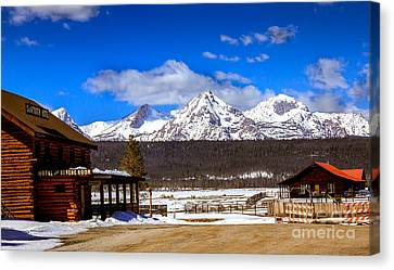View From Stanley Canvas Print by Robert Bales