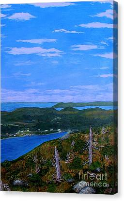 View From Sugarloaf Hill Ship Harbour Bottom Canvas Print by Barbara Griffin