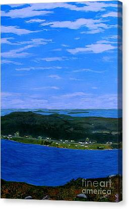 View From Sugarloaf Hill Ship Harbour Center Canvas Print by Barbara Griffin