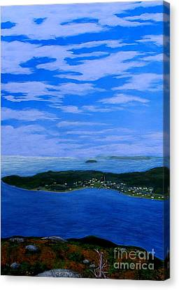 View From Sugarloaf Hill Ship Harbour Cove Canvas Print by Barbara Griffin