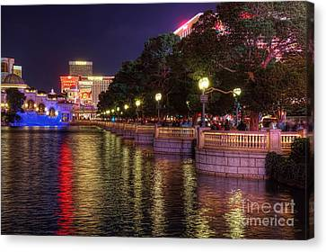 View From The Bellagio Fountains Canvas Print by Eddie Yerkish