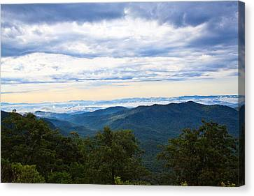View From The Blue Ridge Parkway Canvas Print by Mela Luna
