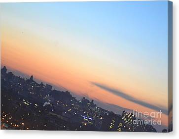 View From The Bronx Canvas Print by Robert Daniels