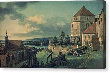 View From The Castle View Of Pirna, 1753-55 Canvas Print