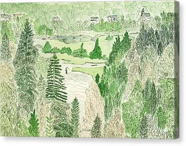 View From The Dam Canvas Print