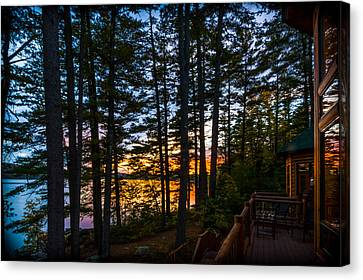 View From The Deck Canvas Print by Karen Stephenson