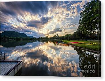 Canvas Print featuring the photograph View From The Dock by Kari Yearous