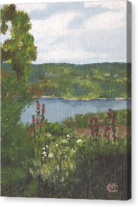 View From The Garden Canvas Print by Cynthia Morgan
