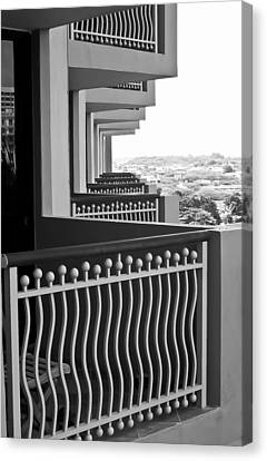View From The Hotel Balcony Canvas Print by Wayne King
