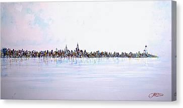 View From The Hudson Canvas Print
