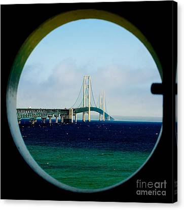 View From The Mackinac Light Canvas Print by Nick Zelinsky