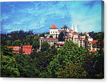 View From The Rooftop - Sintra Canvas Print by Mary Machare