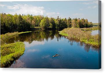 View From The Tobie Trail Bridge Canvas Print by David Patterson