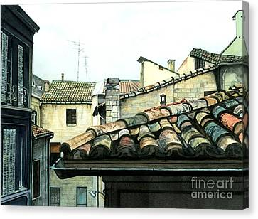 South Of France Canvas Print - View From The Top by Barbara Jewell