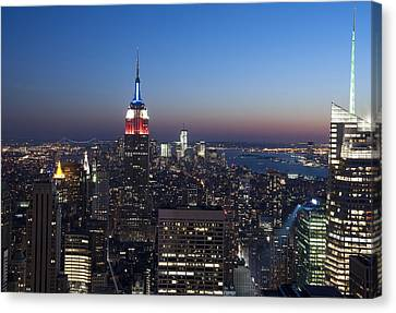 View From The Top Of The Rock Canvas Print by David Yack