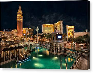 View From The Venetian Canvas Print