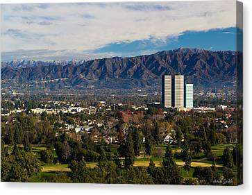 View From Universal Studios Hollywood Canvas Print by Heidi Smith