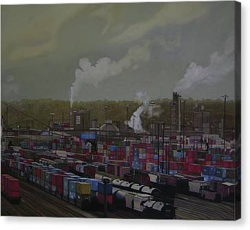 View From Viaduct Canvas Print by Thu Nguyen