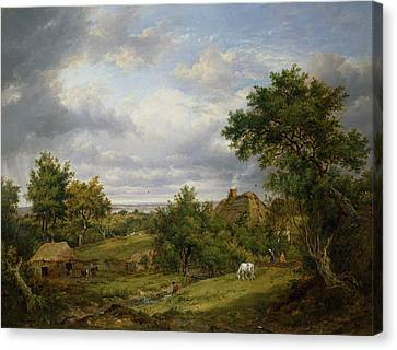 View In Hampshire, 1826 Canvas Print by Patrick Nasmyth