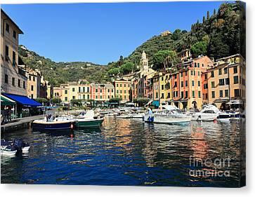 view in Portofino Canvas Print by Antonio Scarpi