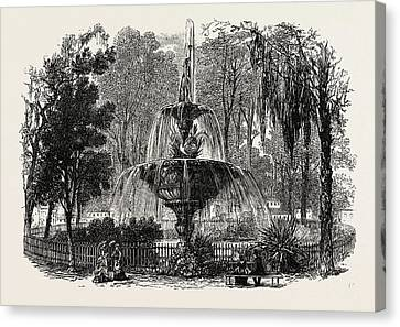 View In The Park, Savannah, United States Of America Canvas Print by American School