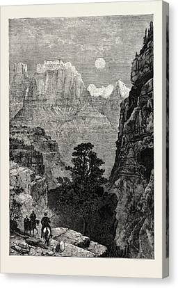 View In Utah Temple Of The Virgin Mu-koon-tu-weap Valley Canvas Print