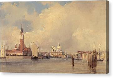 View In Venice Canvas Print by Richard Parkes Bonington